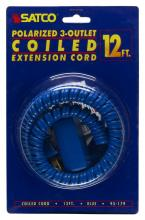 Satco Products Inc. 93/179 - 12 FT. Coiled (Extended) Extension CordsAll extension cords rated at 13A 125V 1625 watts maximum and