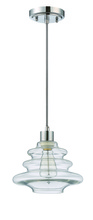 Jeremiah P605CH1 - 1 Light Mini Pendant with Cord in Chrome