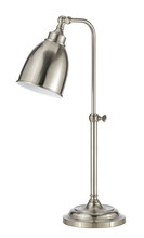"CAL Lighting BO-2032TB-BS - 25"" Height Metal Table Lamp In Brushed Steel"