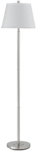 "CAL Lighting BO-2077FL-BS - 60"" Height Metal Floor Lamp In Brushed Steel"
