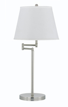 "CAL Lighting BO-2077TB-BS - 28"" Height Metal Table Lamp In Brushed Steel"