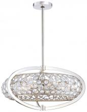 Minka Metropolitan n6756-613 - Eight Light Polished Nickel Clear Crystal Accents Glass Up Pendant