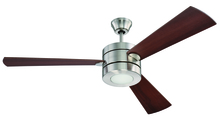 "Ellington Fan TRI54BNK3 - Triad 54"" Ceiling Fan with Blades and LED Light Kit in Brushed Polished Nickel"