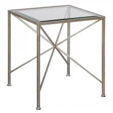 Uttermost 24656 - Uttermost Silvana Antiqued Silver Cube Table