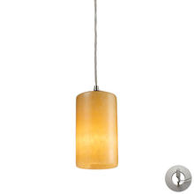 ELK Lighting 10169/1-LA - Piedra 1 Light Pendant In Satin Nickel And Genui