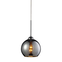 ELK Lighting 10240/1CHR - Cassandra 1 Light Pendant In Polished Chrome And